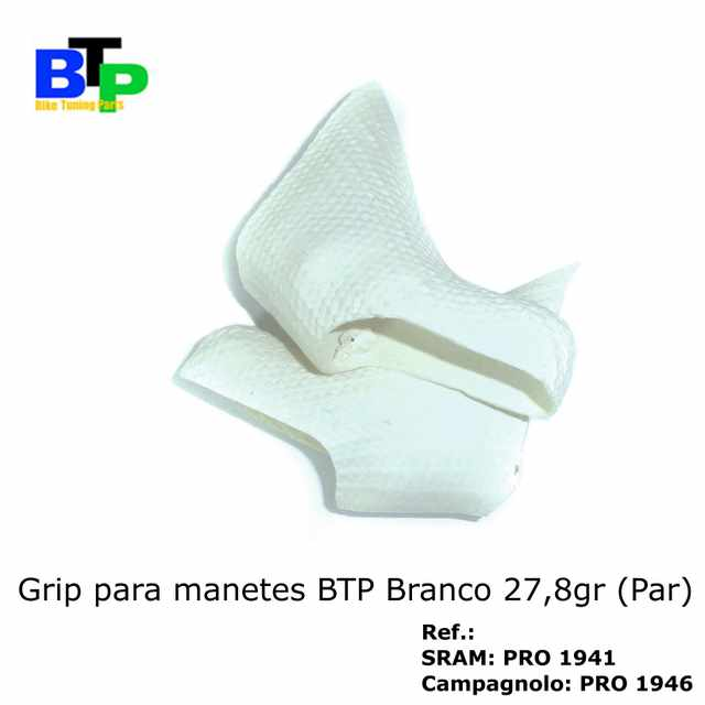 Borracha Manete Carbono BTP SRAM White (par) 27.8gr