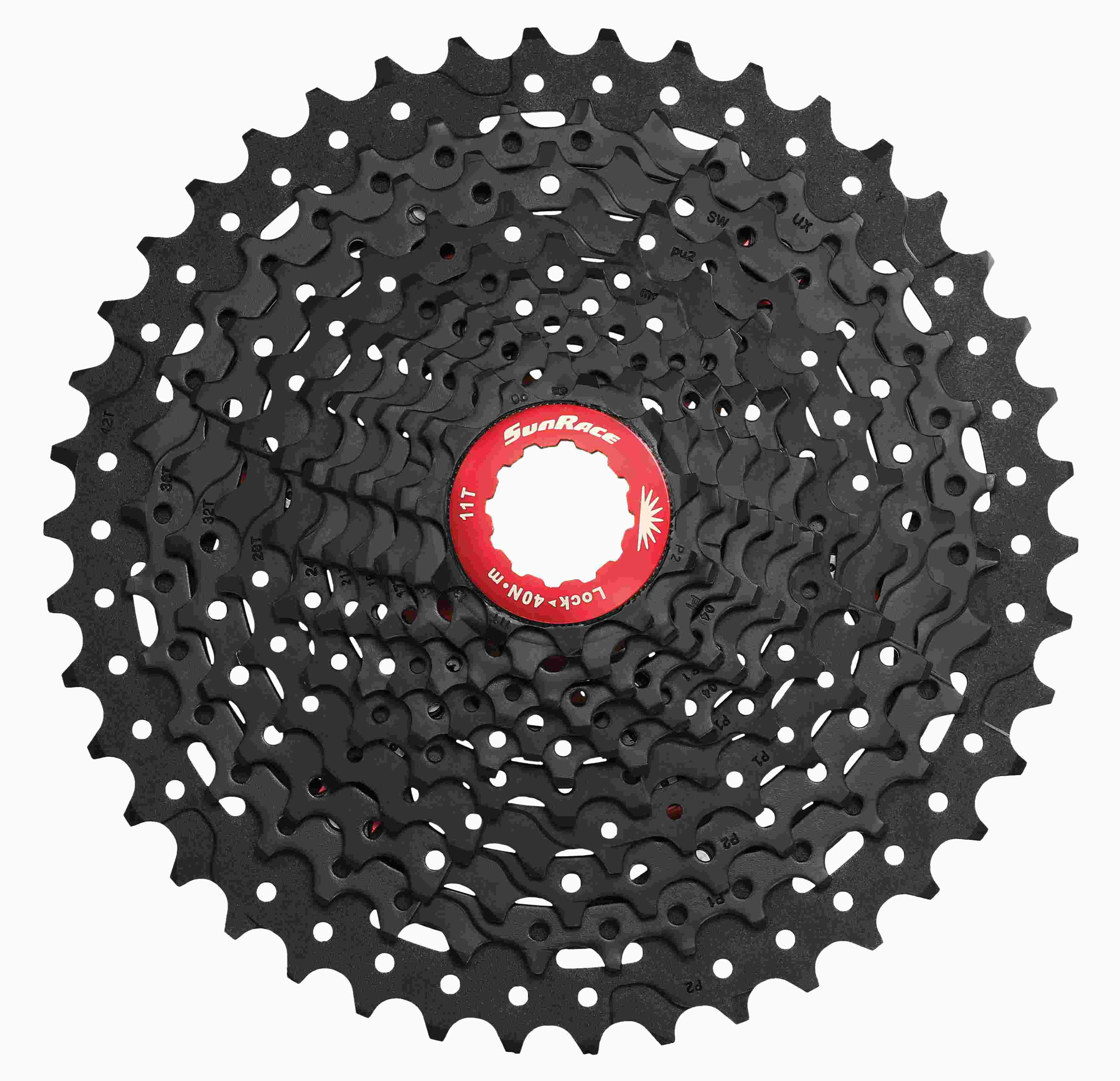 Cassete SUN RACE 12v 11-50 Black/Red CSMZ90