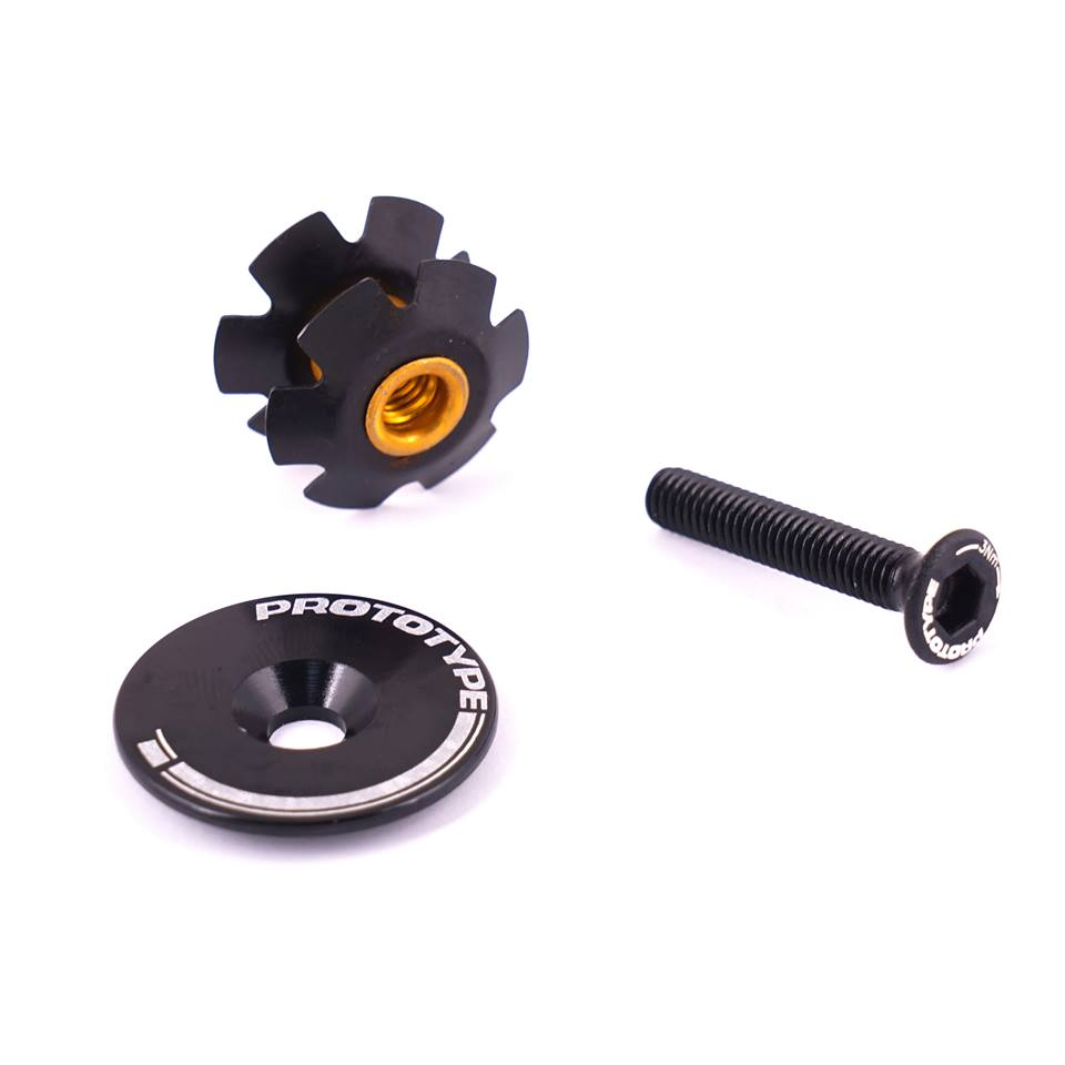 Headset Cap 1-1/8 Black